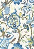 Thibaut Windsor Wallpaper in Blue and Yellow